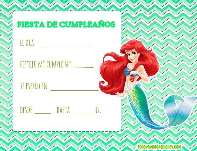 Invitaciones-de-Princesa-Ariel-La-Sirenita