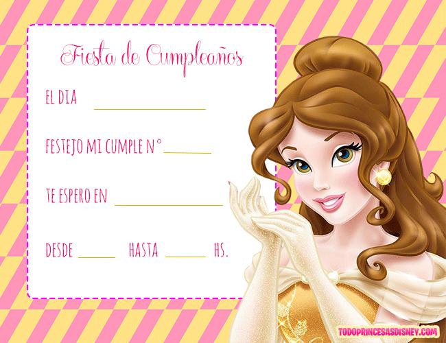 Tarjetas-Princesa-Bella-Invitaciones-Princesa-Bella-Disney.