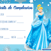 Invitaciones de Cumpleanos de Cinderella