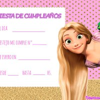Invitaciones de Cumpleanos de Rapunzel Tangled