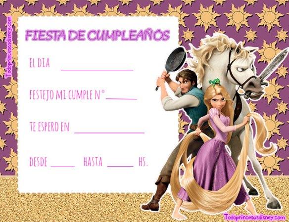 Tarjetas Cumpleanos Rapunzel y Flynn