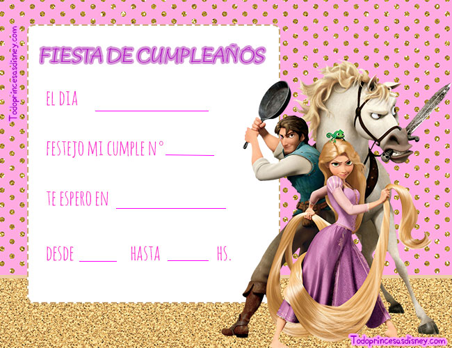 Tarjetas cumpleanos Tangled Rapunzel Enredados