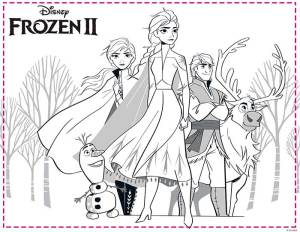 Dibujos Frozen 2 para imprimir