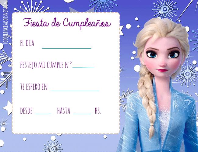 Frozen 2 invitaciones Cumpleanos Elsa y Anna