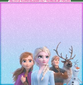 Frozen 2 tarjetitas invitaciones marcos