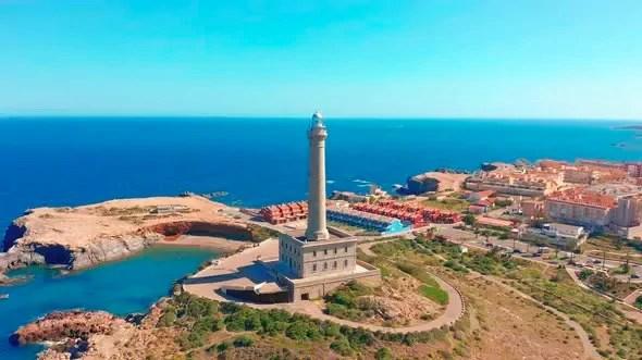 Faro de Cabo de Palos en La Manga del Mar Menor.
