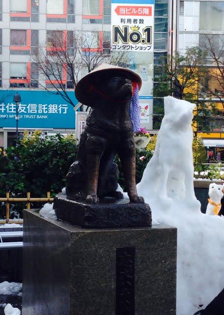hachiko shibuya y nieve akita