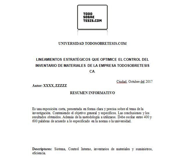 Páginas preliminares de una tesis. ¿Cuáles son?
