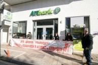 Protesta en Banco de Argos.