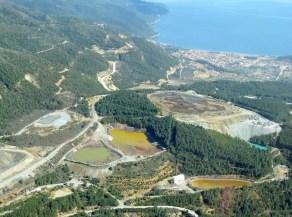 Avance de la mina de Stratoni en Calcidia