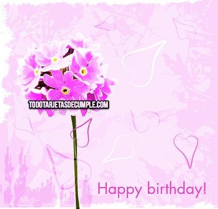 tarjetas de cumpleaños con flores
