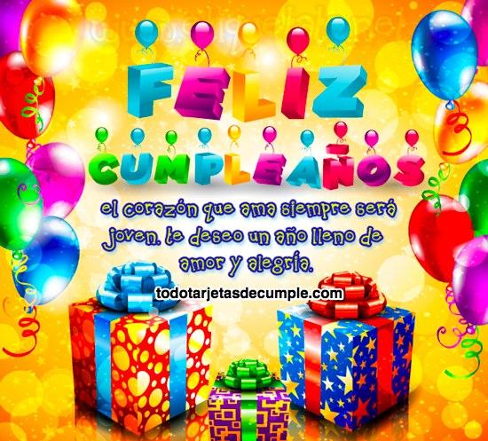 tarjetas de feliz cumpleaños coloridas con frases