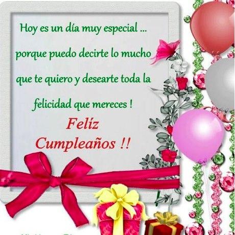 Tarjeta de feliz cumpleaños con deseos bonitos