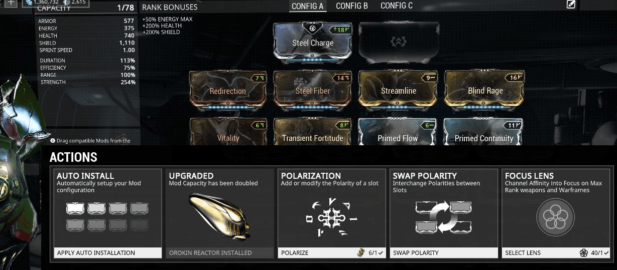 Arsenal Warframe Upgrade EN