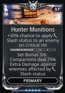 Hunter Munitions 3-6 Mods Set