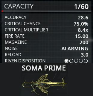 Soma Prime Riven Disposition