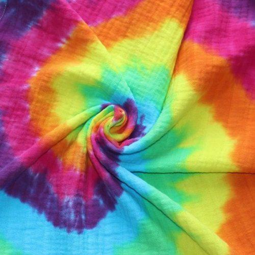 Muslin - rainbow swirl