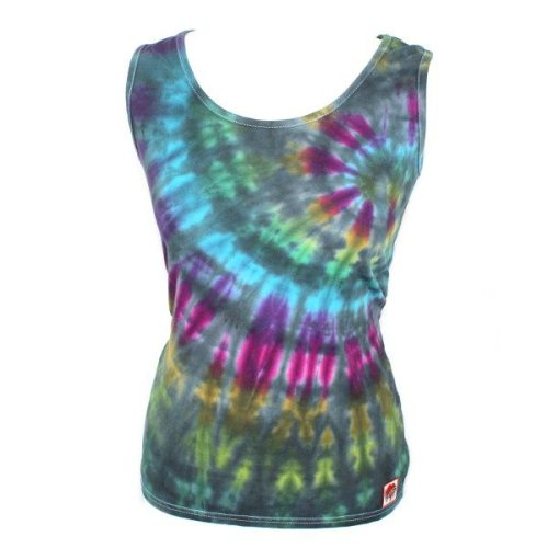 Ladies Vest - Grey rainbow