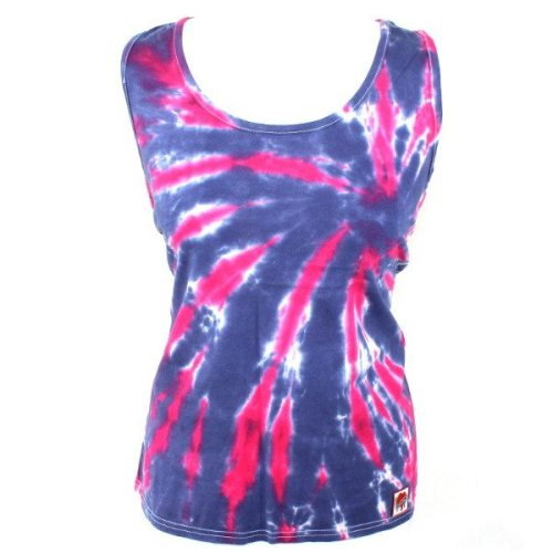 Ladies Vest - Magenta & Navy Slash
