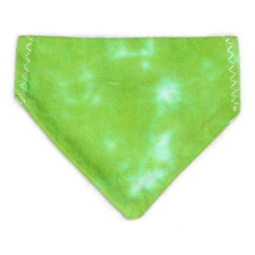 pet bandana - green scrunch
