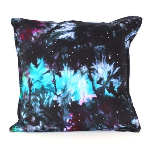 custom dyed cushion Peacock Nebula