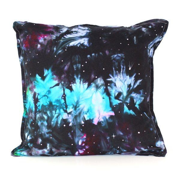 custom dyed cushion Peacock Nebula