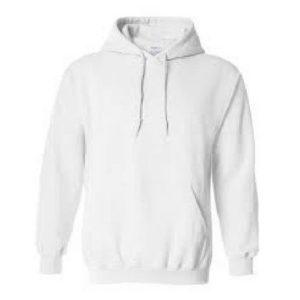 plain white hoody