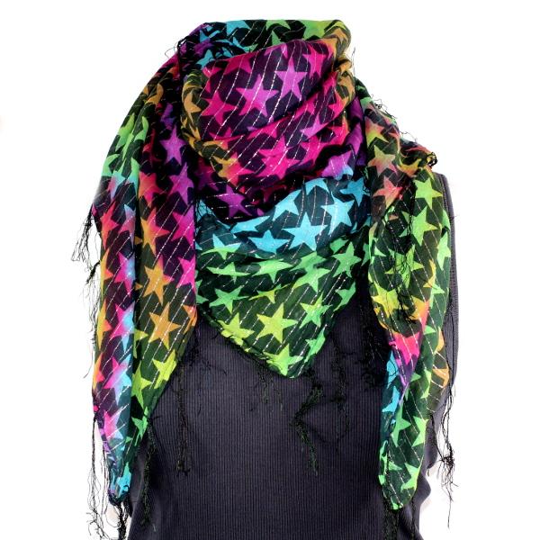Rainbow star scarf