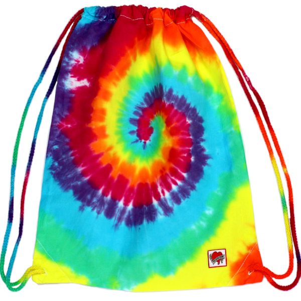PE bag - rainbow swirl