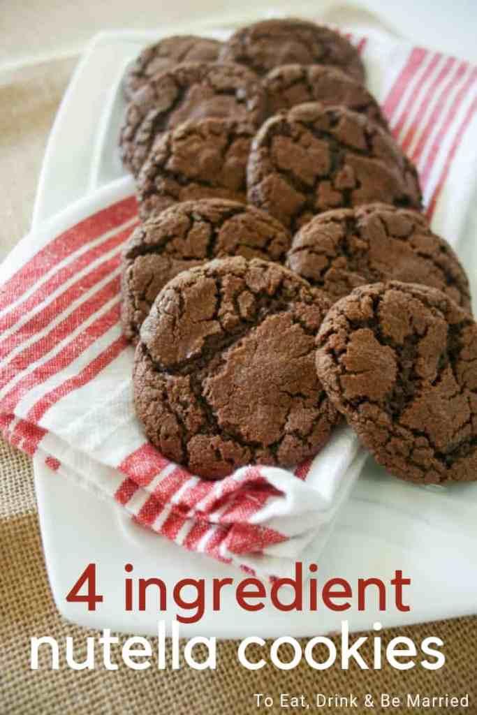 Simple & Easy 4 Ingredient Nutella Cookies
