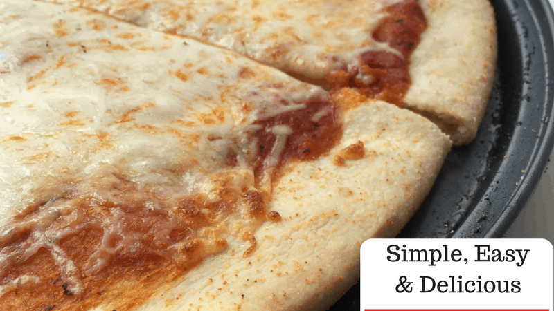 Pizza dough ready in under 30 minutes. Add all of your favorite toppings and make this a new tradition!