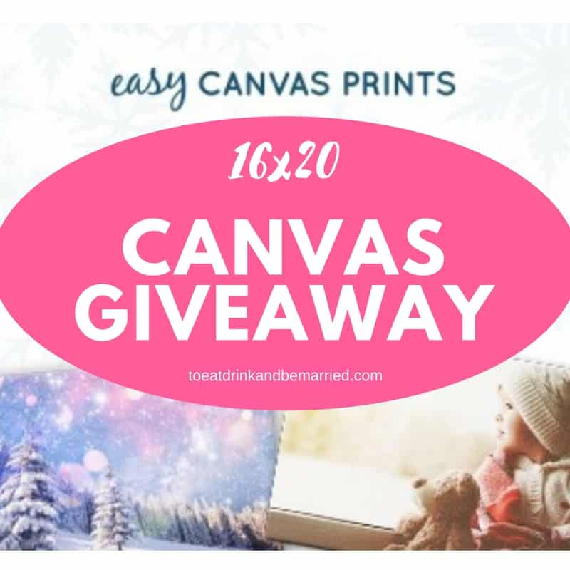 full size canvas giveaway!