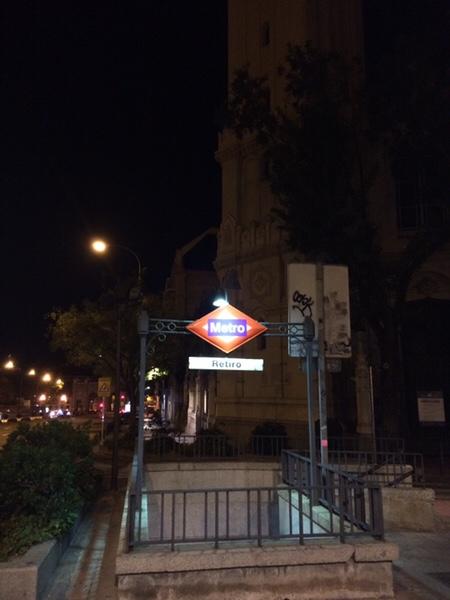 早朝ランマドリッドmetro station