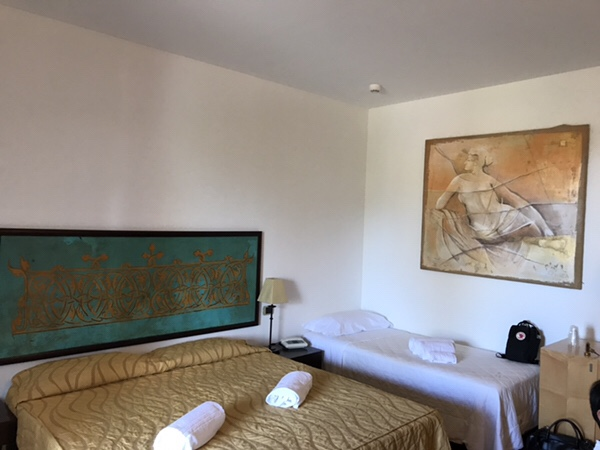 Hotel Garden vulcano部屋ベッド別アングル
