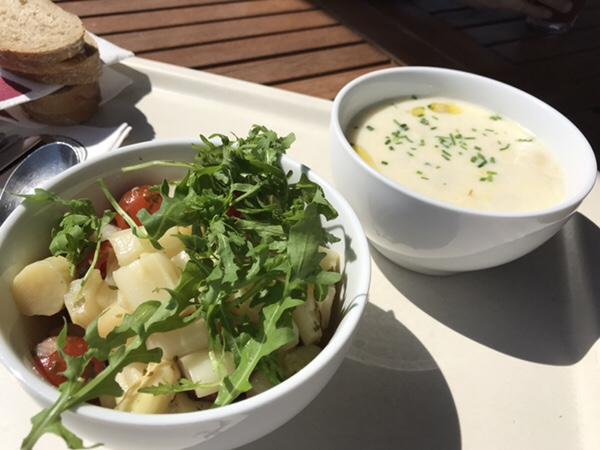 Bauer Lipp@Weiterstadtシュパーゲルサラダとシュパーゲルクリームスープ