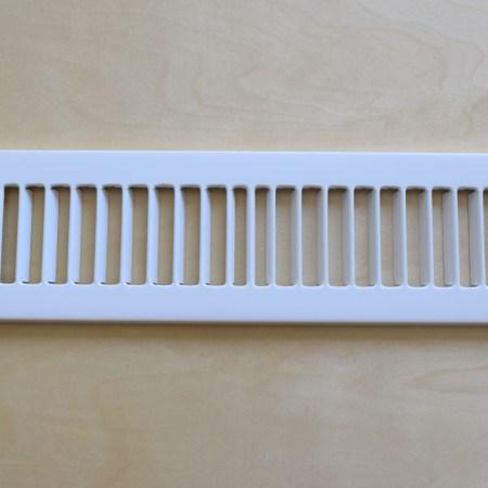 White Register Plate for Toekick