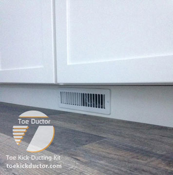 the official toe ductor under cabinet
