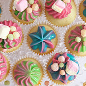 Spacige Mini Cupcakes