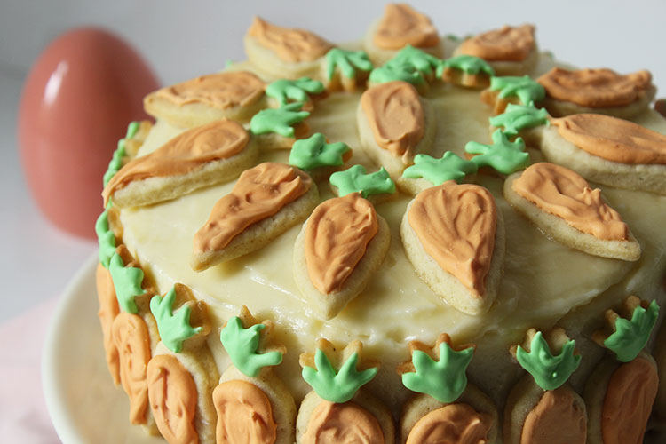 Ostertorte - Carrot Cake mit Cream Cheese Frosting
