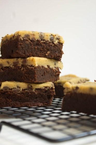 Brownie mit Cookie Dough