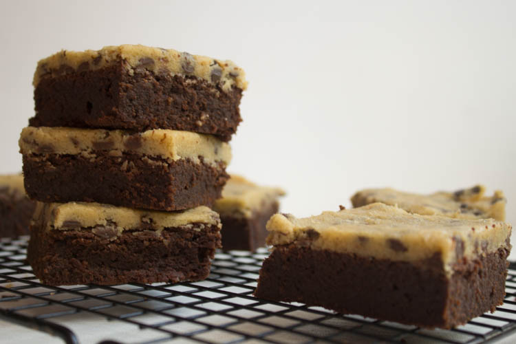 Brownie mit Cookie Dough