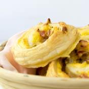Rezept Rhabarber Vanille Blätterteig Schnecken
