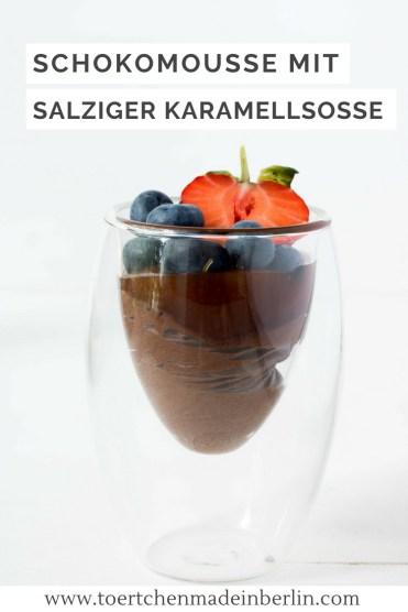 Rezept Schokomousse mit salziger Karamellsauce