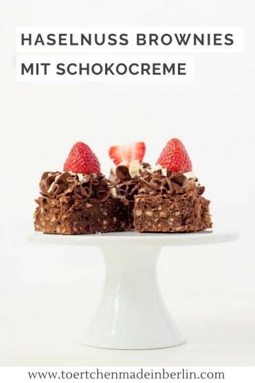 Rezept Haselnuss Brownies Schokocreme Erdbeeren