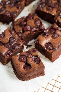 Rezept Lebkuchen Brownies mit Kirschen