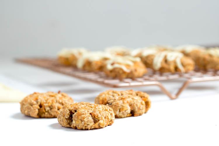Rezept Möhren Karotten Carrot Kekse Cookies mit weißer Schokolade