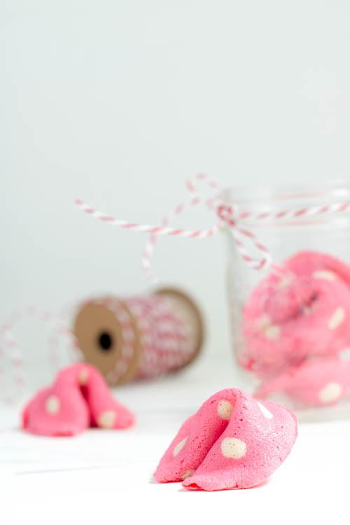 Rezept Rosa Glückskekse zum Valentinstag