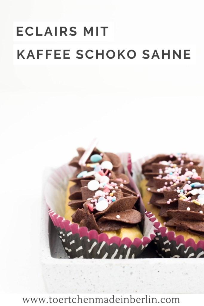 Rezept Eclairs mit Kaffee Schoko Sahne