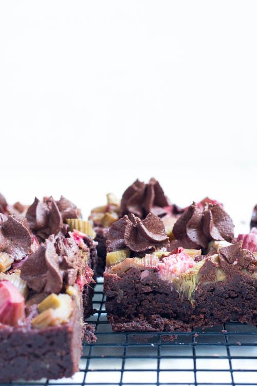 Rezept Brownies mit Rhabarber