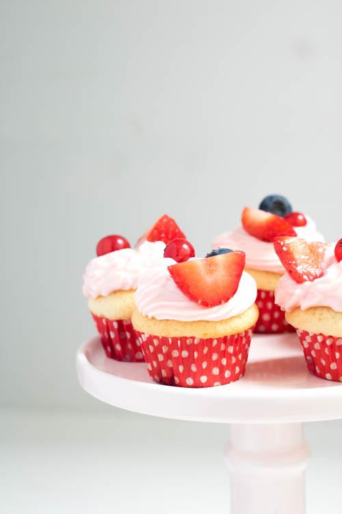 Rezept Erdbeer Daiquiri Cupcakes